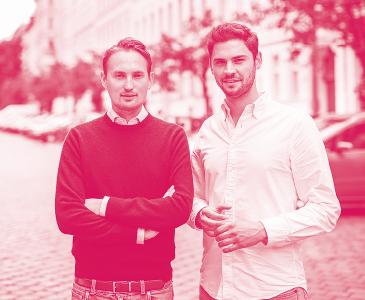McMakler-Gründer und Geschäftsführer Lukas Pieczonka und Hanno Heintzenberg